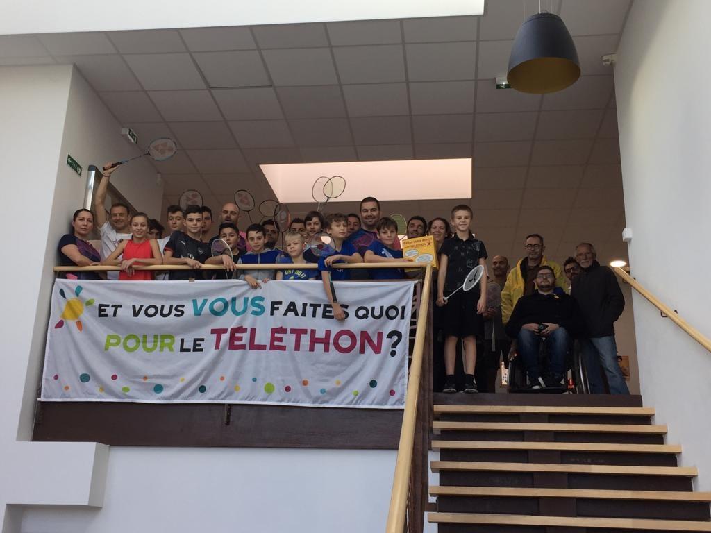 Le club de badminton de Peypin se mobilise au profit du téléthon